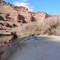 Camp on the Green River.- Green River, Labyrinth Canyon