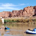 The supply tube is ideal for extra gear such as a fire pan and waste bags.- Green River, Labyrinth Canyon