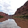 Downstream views, upstream winds.- Green River, Labyrinth Canyon