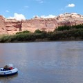 Enjoying the canyon views.- Green River, Labyrinth Canyon