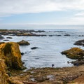 View of Glass Beach from the path.- Glass Beach