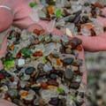 Glass by the handfull.- Glass Beach