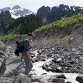 A stream crossing on the Muddy Fork hike.- Muddy Fork