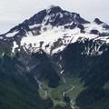 Snowmelt pouring off of Sandy Glacier.- Muddy Fork