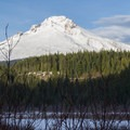 Mount Hood from Trillium Lakes Loop.- Trillium Lake Loop Trail