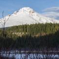 Mount Hood from Trillium Lakes Loop.- Trillium Lake Loop Trail