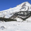 Mount Hood (11,250') from the White River West Sno-Park.- White River West Sno-Park Sledding