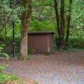 Empty host site.- Ludlum Campground