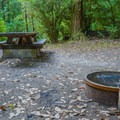 Typical campsite in Ludlum Campground.- Ludlum Campground