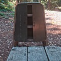 Secure food storage.- Tan Oak Campground