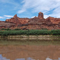 "The ""fingers"" along a bend in the river.- Green River, Labyrinth Canyon"