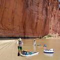 A great beach for a break under towering cliffs.- Green River, Labyrinth Canyon
