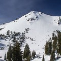 A wind scoured, no-name peak stands watch above Ridge Lakes.- Ridge Lakes Winter Camp