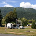 Sauk Mountain (5,541') from Howard Miller Steelhead Park.- Howard Miller Steelhead Park Campground
