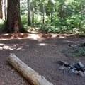 An open backcountry campsite at Tumble Lake.- Dome Rock + Tumble Lake Hike