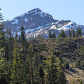 Brokeoff Mountain (9,235') as seen from the campground.- Lassen Southwest Walk-in Campground