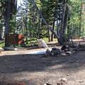 The Southwest Walk-in Campground.- Lassen Southwest Walk-in Campground