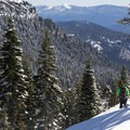 Exploring the terrain around the southwest entrance.- Lassen Southwest Entrance Winter Recreation Area