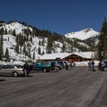 The Kohm Yah-mah-nee Visitor Center is the gateway for Lassen winter recreation.- Lassen Southwest Entrance Winter Recreation Area