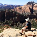 An overlook along the Trans-Zion Trek. The Subway formation is below.- Trans-Zion Trek