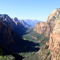 View of the valley in Zion National Park.- Trans-Zion Trek