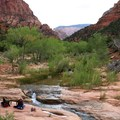 Take advantage of your water sources, as there aren't many along the way.- Trans-Zion Trek