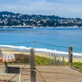 Park bench with a view.- Del Monte Beach