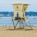 Lifeguard tower at Seaside State Beach.- Seaside State Beach