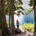 Popular hike for groups and families.- Lake Serene