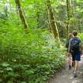 Very popular trail.- Lake Serene