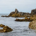 Rocky outcroppings.- Point Pinos Lighthouse Reservation