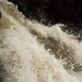 Boofing Big Kahuna on the Nantahala River.- Nantahala River