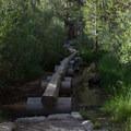 A wooden bridge along the Mount Whitney Trail. - Mount Whitney Hike via Whitney Portal