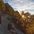 An early start on the Mount Whitney Trail.- Mount Whitney Hike via Whitney Portal