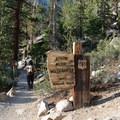 Mount Whitney Trail.- Mount Whitney Hike via Whitney Portal