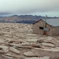The summit shelter.- Mount Whitney Hike via Whitney Portal