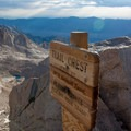 Trail Crest on the Mount Whitney Trail.- Mount Whitney Hike via Whitney Portal