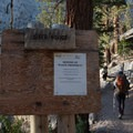 Waste control is essential for such a heavily trafficked area.- Mount Whitney Hike via Whitney Portal