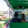 Riding on the tram.- El Prado