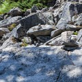 Look for the cairns to find the way up the rocks.- Eagle Lake
