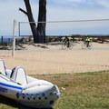 Kayaking, volleyball, and biking are just a few activiteis at Monterey Municipal Beach.- Monterey Municipal Beach