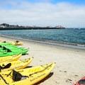 Kayaks for rent at Monterey Municipal Beach.- Monterey Municipal Beach
