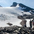 Hayden Glacier and Prouty Point.- Middle Sister, East Approach