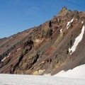 North Sister (10,085') as seen from Collier Glacier.- Middle Sister, East Approach