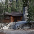 The nearby cabins at Whitney Portal Campground are private.- Whitney Portal Campground