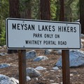 The Meysan Lake Trailhead is located near the campground.- Whitney Portal Campground