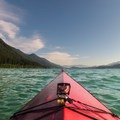 Looking toward the south end of Baker Lake. - Baker Lake Sea Kayaking