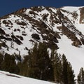 Dunderberg's south ridge.- Dunderberg Peak, Southeast Face