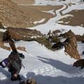 A traverse along the ridge provides some exposure.- Dunderberg Peak, Southeast Face