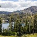 Gaining some elevation above Big Bear Lakes.- Bear Lakes Loop via Round Lake